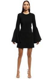 Ellery - Dogma Flare Sleeve Mini Dress - Black - Front
