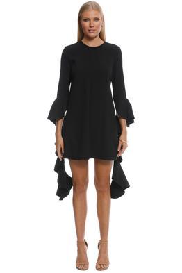 Ellery - Kilkenny Frill Sleeve Mini Dress - Black - Front