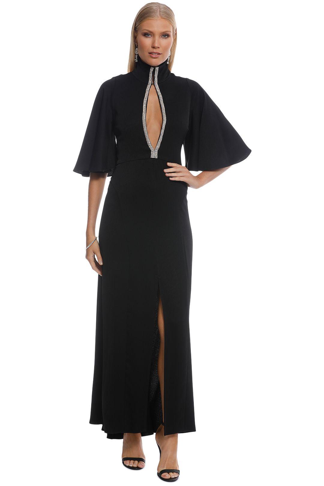 Ellery - Mae Funnel Neck Dress - Black  - Front