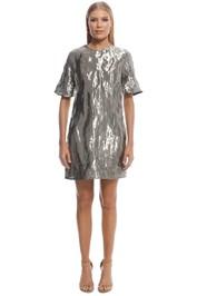 Ellery - Metal SS Mini Dress - Silver - Front