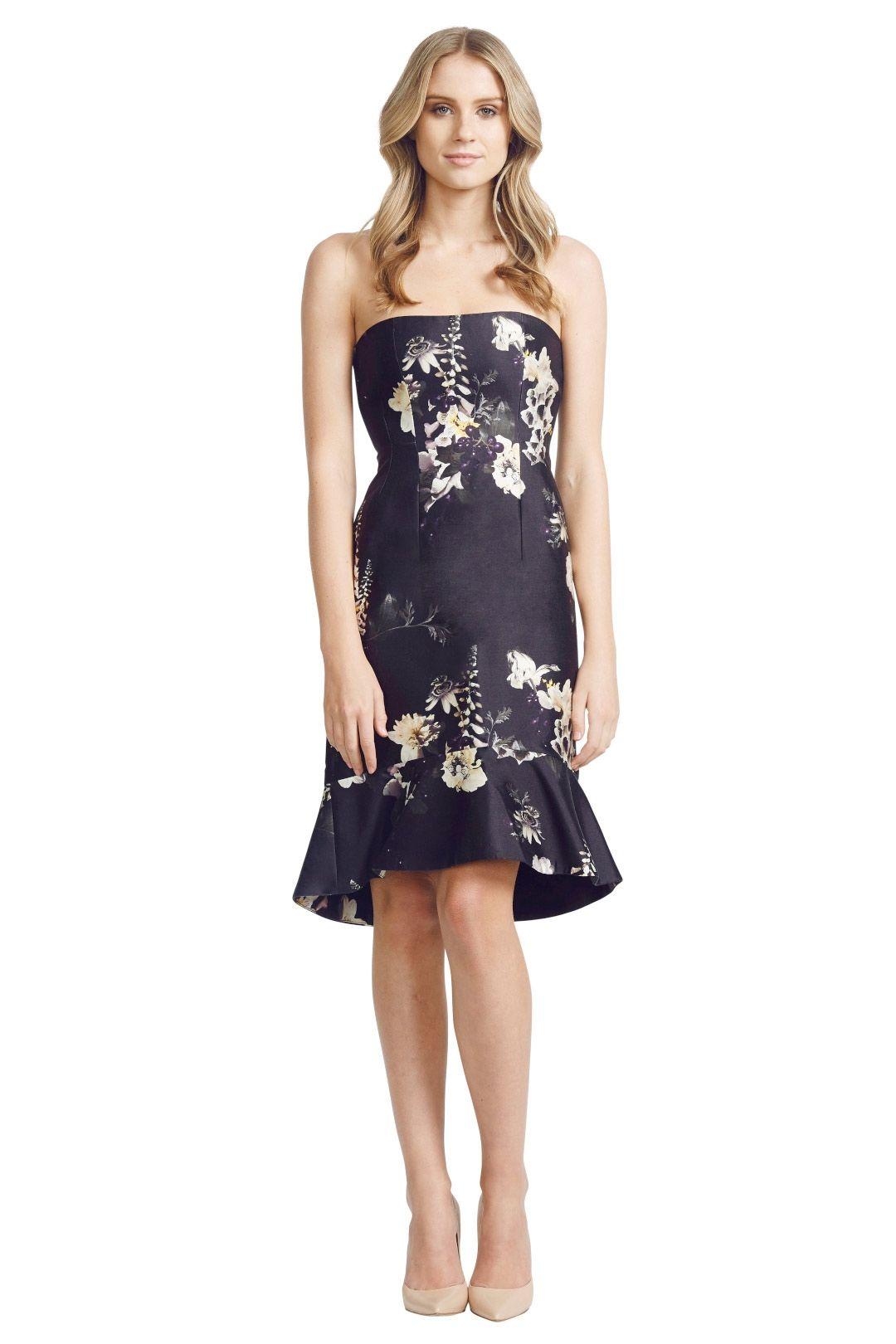 Ellery - Ten Pin Strapless Dress - Black - Front