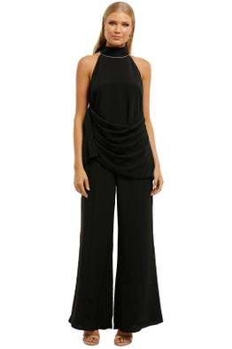Elliatt-Cacti-Top-and-Pant-Set-Black-Front