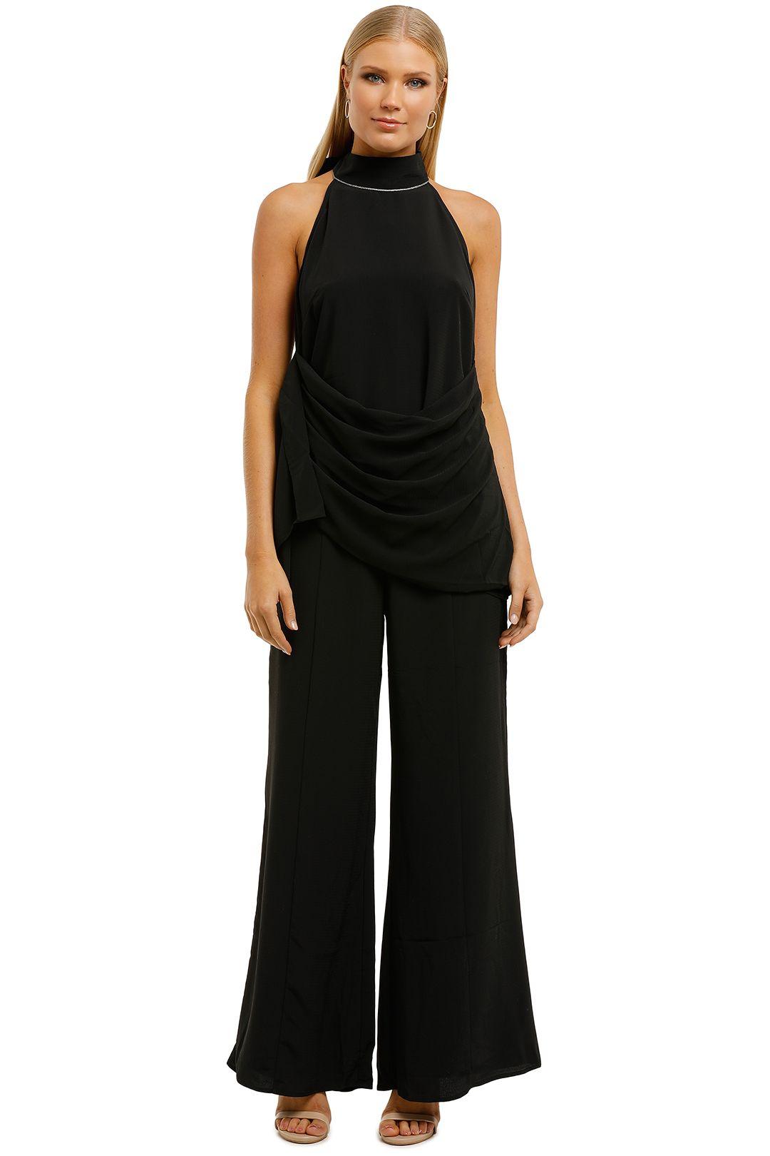 Elliatt-Cacti-Top-and-Pant-Set-Black-Front