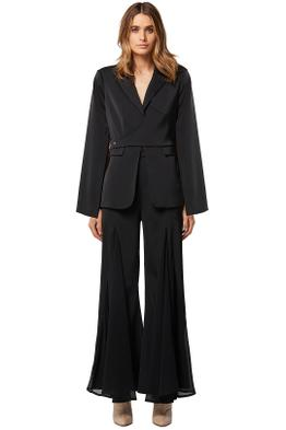 Elliatt-Cara-Blazer-and-Pant-Set-Black-Front