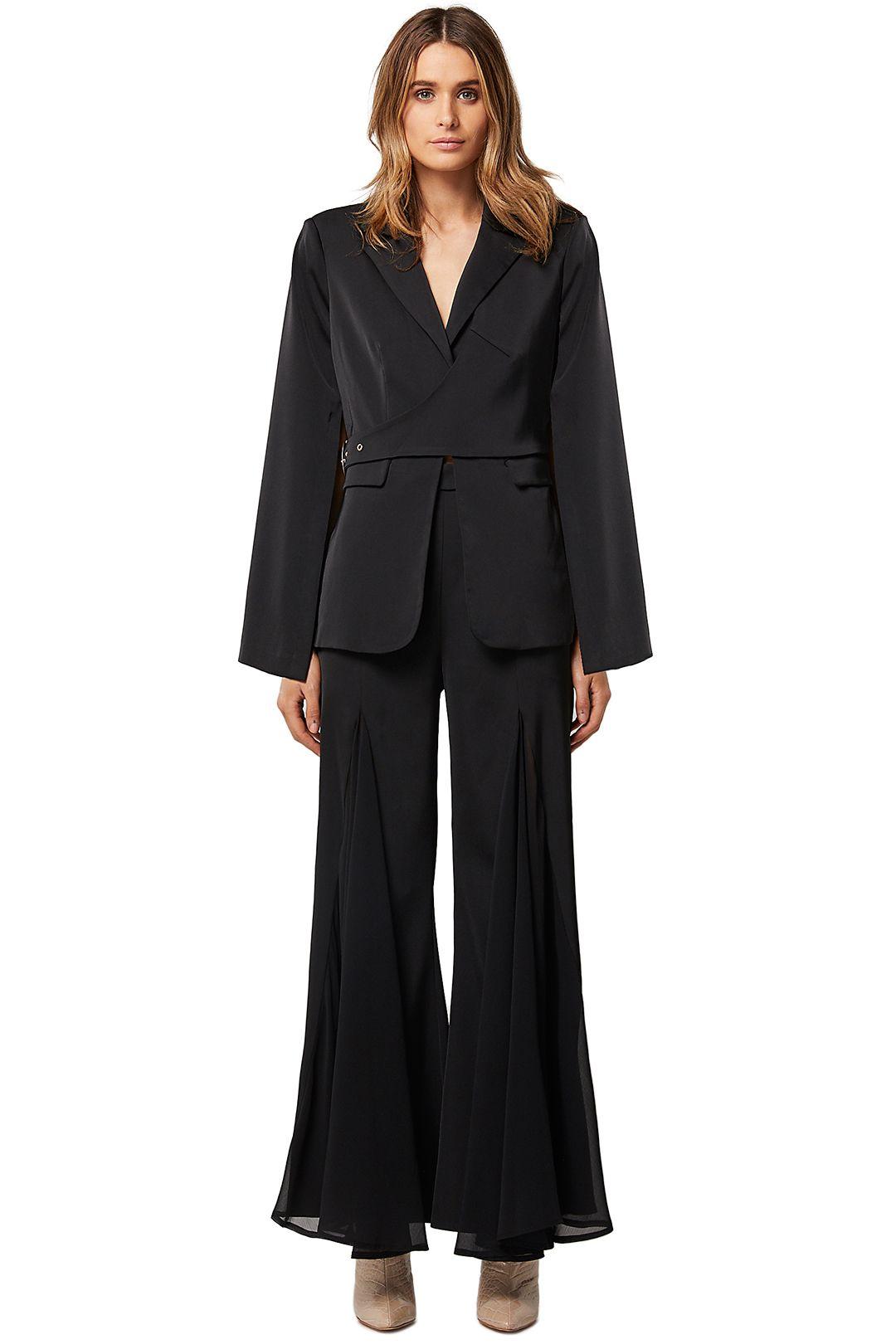 Elliatt-Cara-Blazer-and-Pant-Set-Black-Front