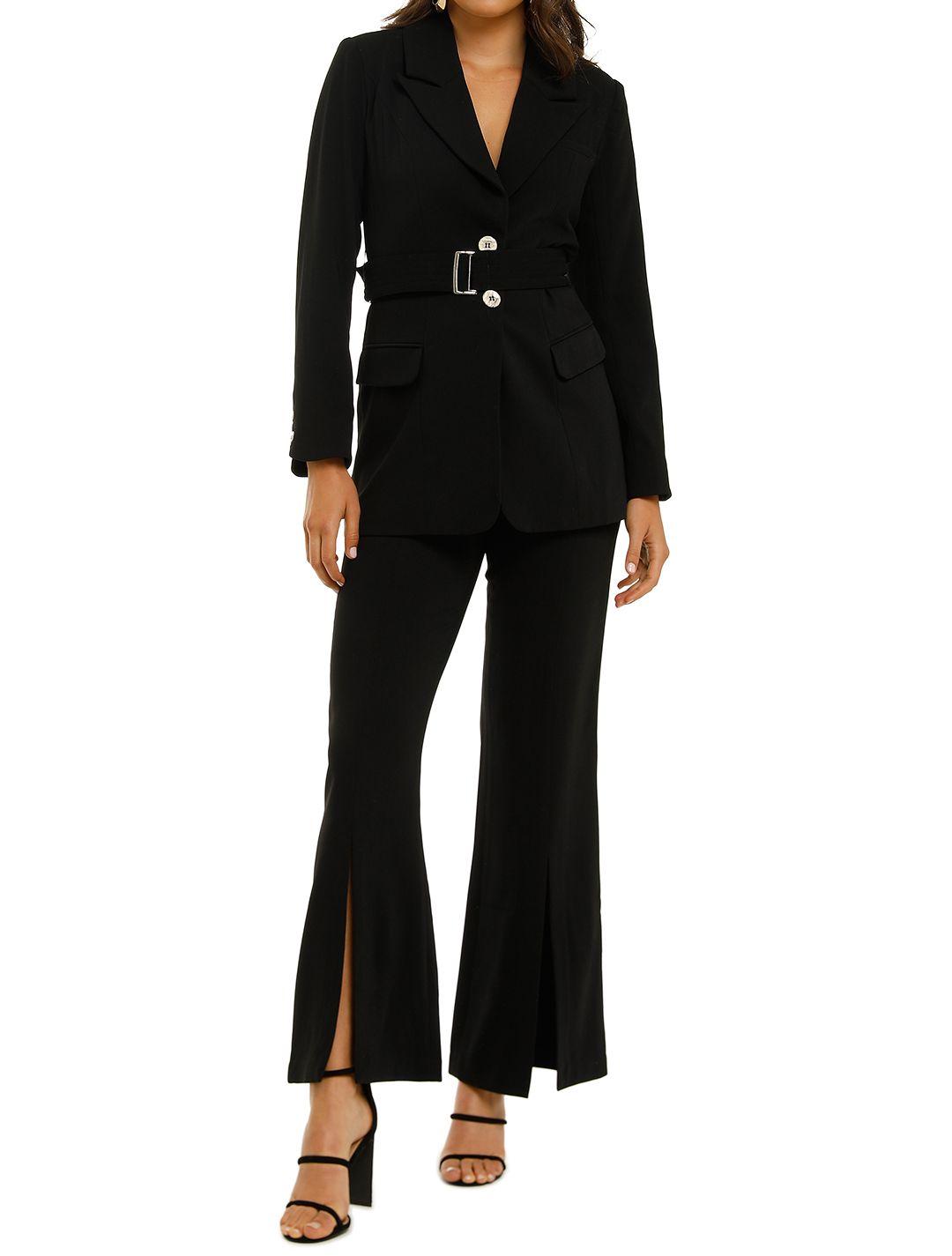 Elliatt-Coppelia-Blazer-and-Pant-Set-Black-Front