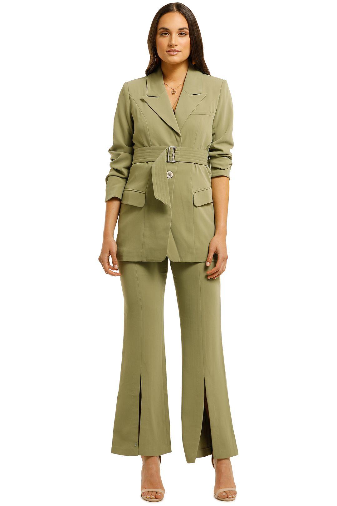 Elliatt-Coppelia-Blazer-and-Pant-Set-Khaki-Front