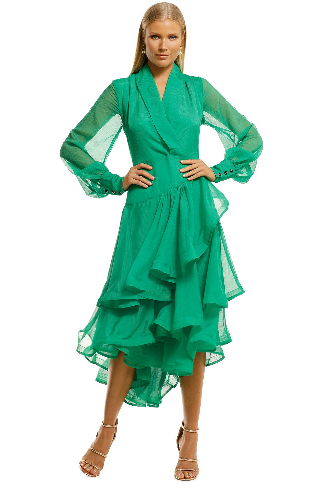 Elliatt-Cuba-Dress-Emerald-Front