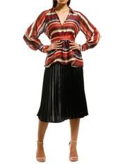 Elliatt-Edie-Blouse-Multi-Stripes-Front