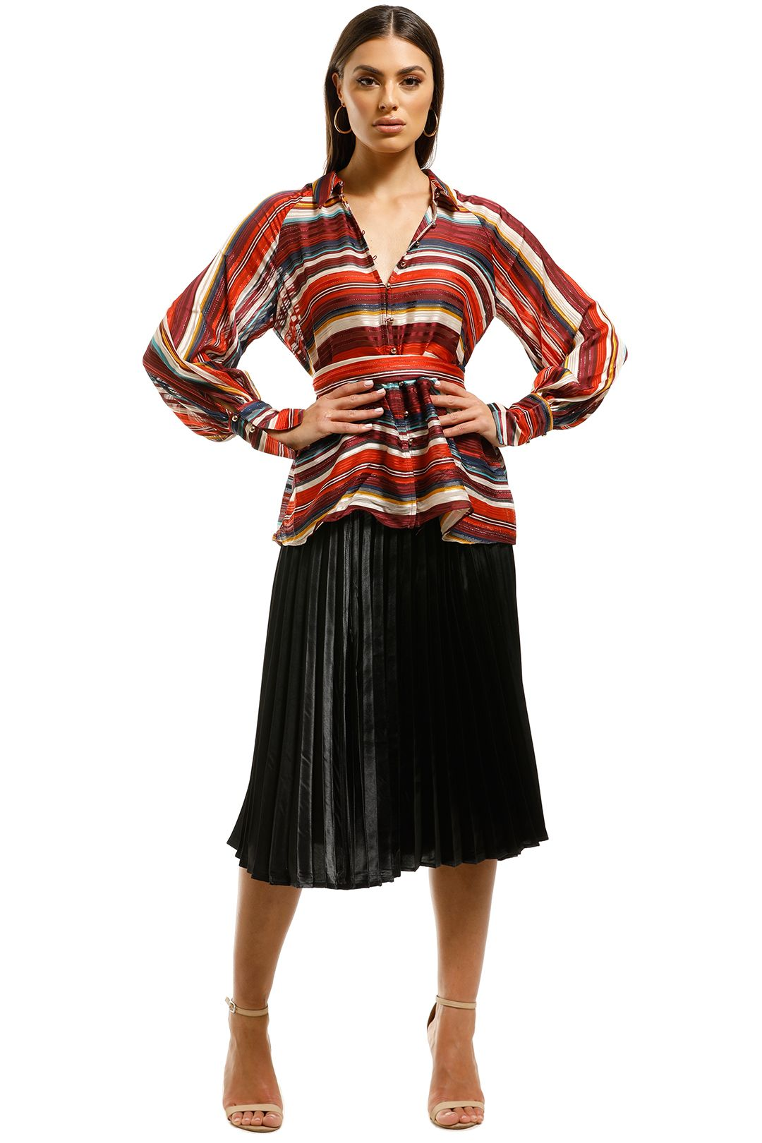 Elliatt-Edie-Blouse-Multi-Stripes-Front