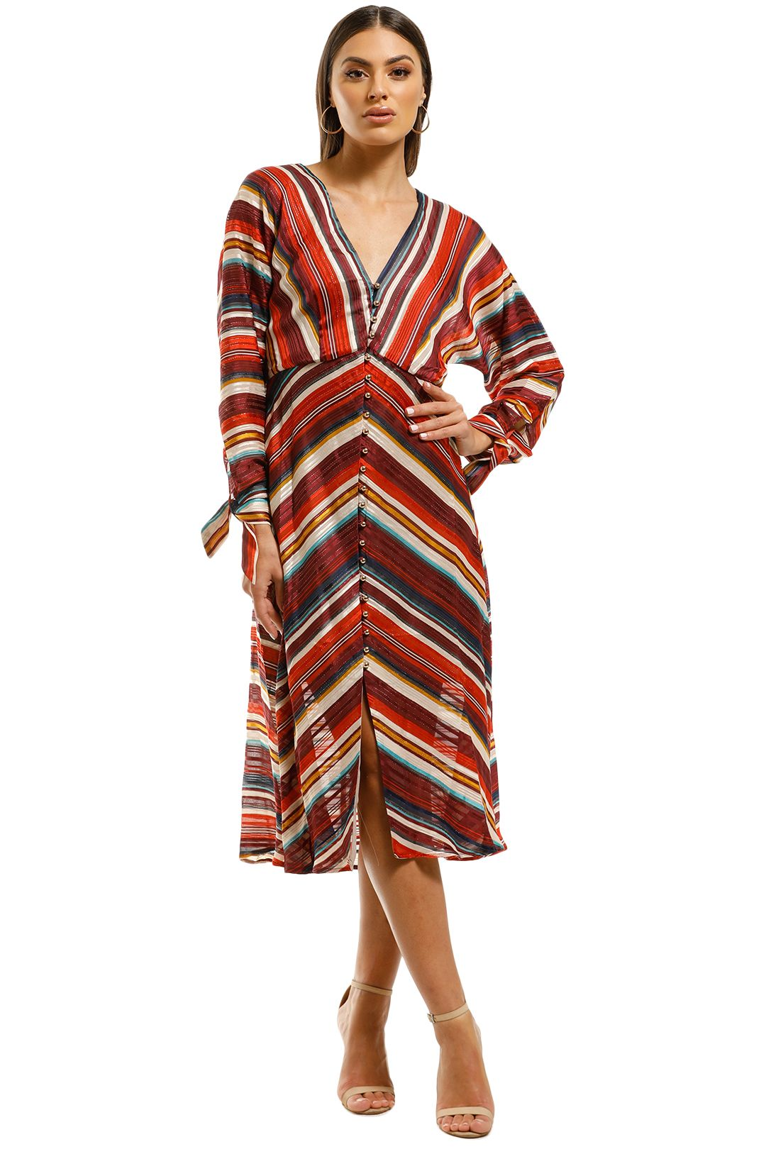 Elliatt-Edie-Dress-Multi-Stripes-Front