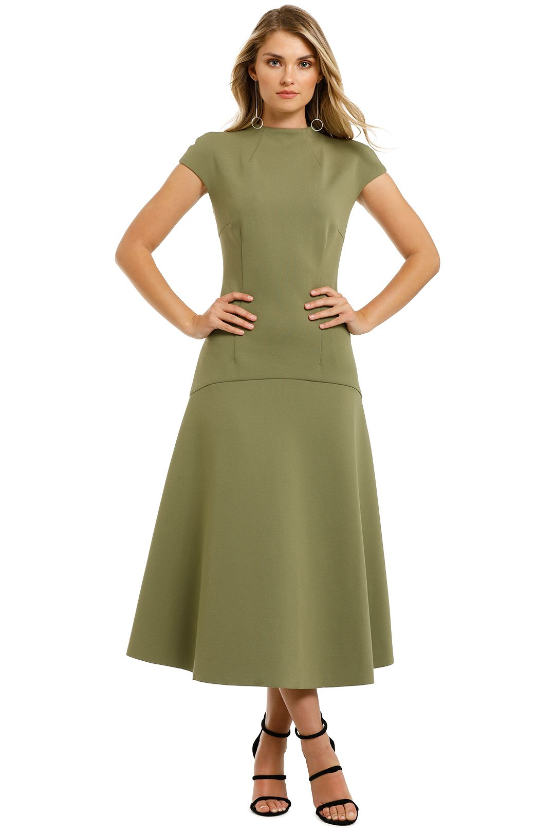 Elliatt-Future-Dress-Khaki-Front