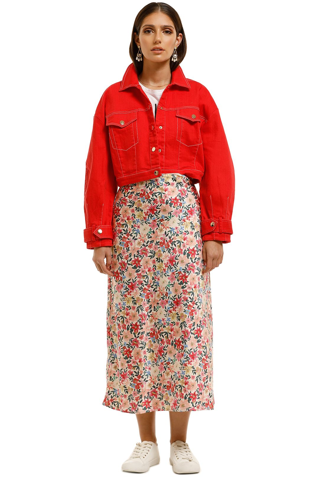 Elliatt-Leilani-Jacket-Pop-Red-Red-Front