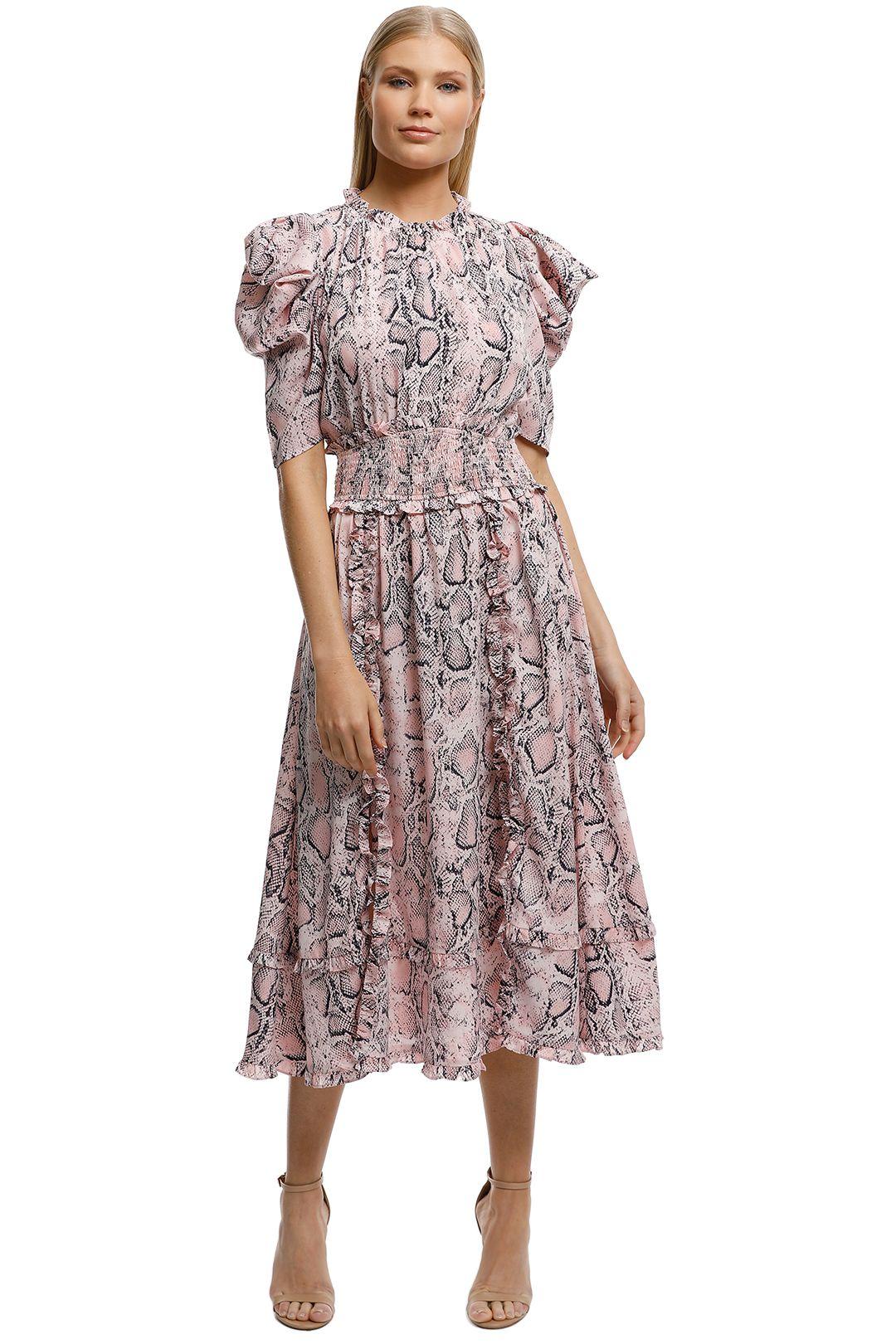 Elliatt-Mia Dress-Pink Animal-Front