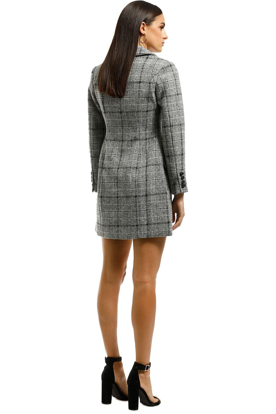 Elliatt-Prato Blazer Dress-Grey-Back