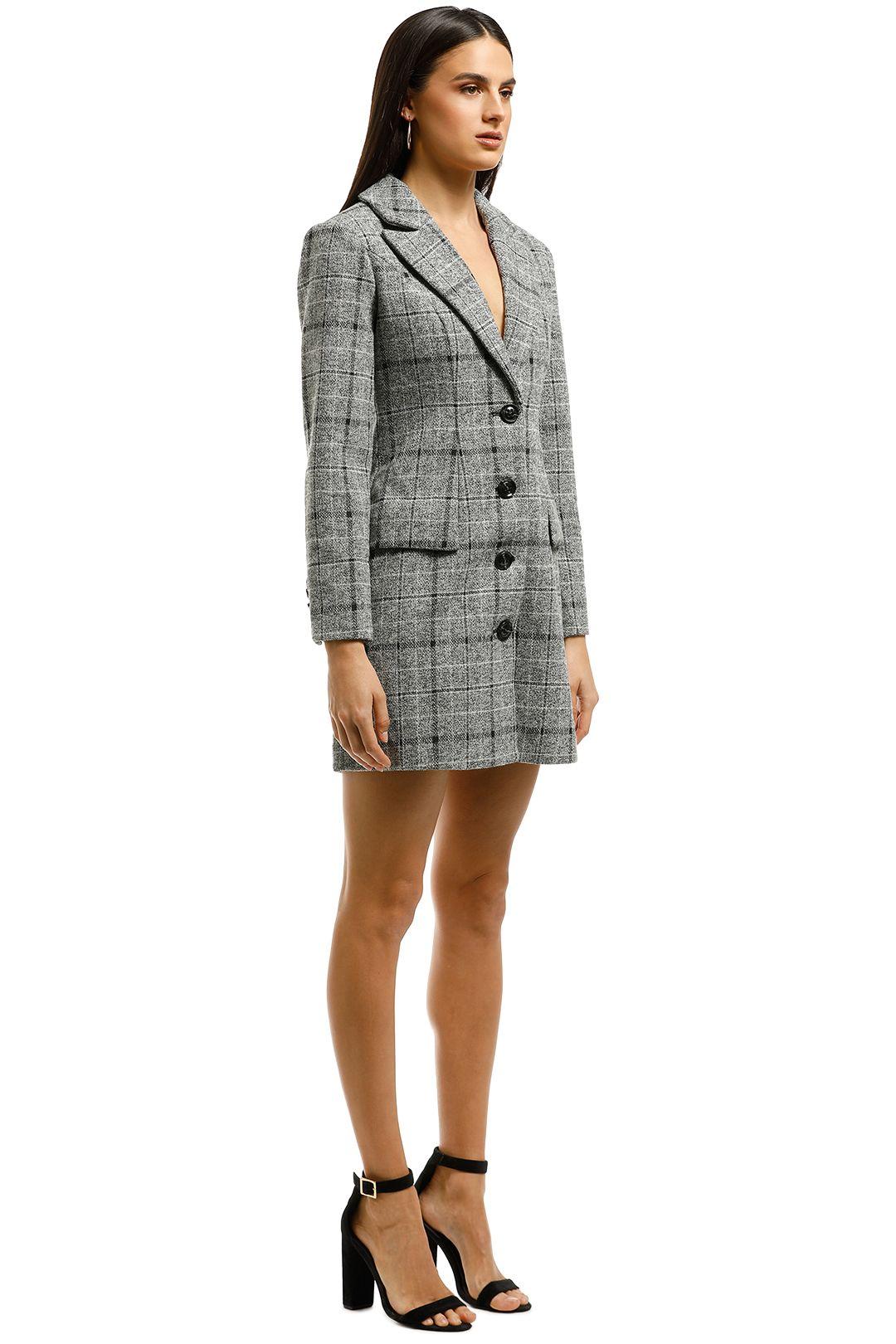 Elliatt-Prato Blazer Dress-Grey-Side