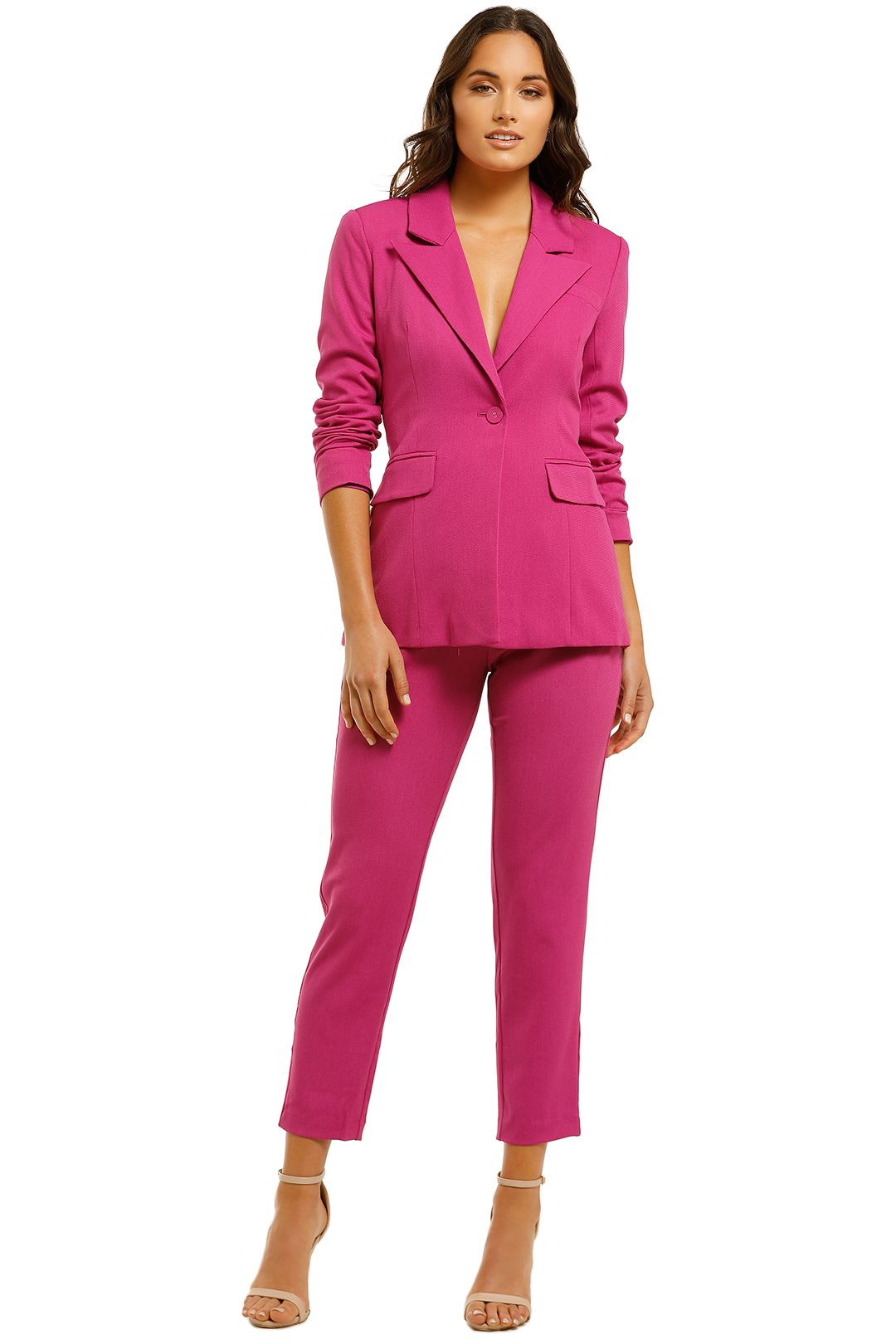 Elliatt-River-Blazer-and-Pant Set-Orchid-front