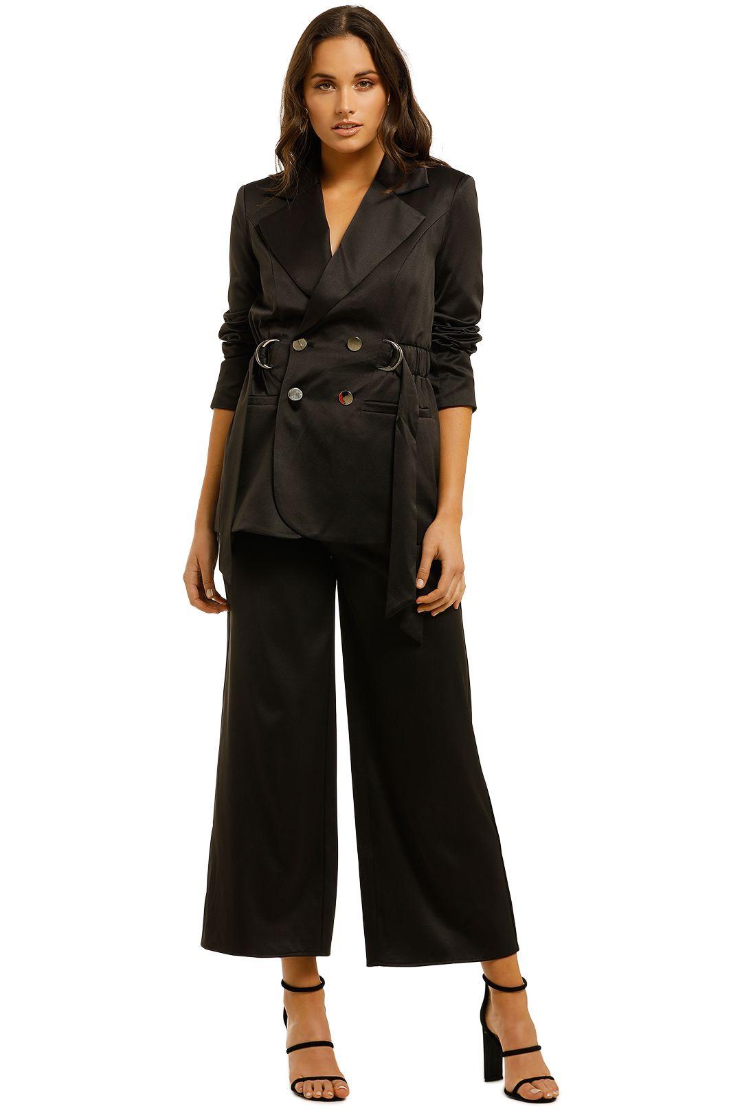 Elliatt-Shimmer-Blazer-and-Pant-Set-Black-front