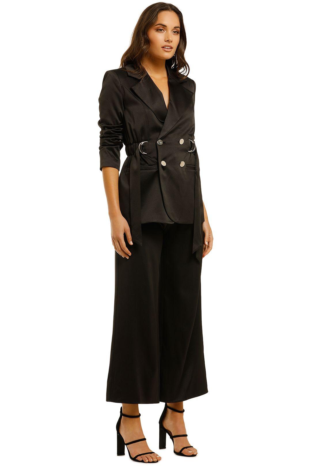 Elliatt-Shimmer-Blazer-and-Pant-Set-Black-Side