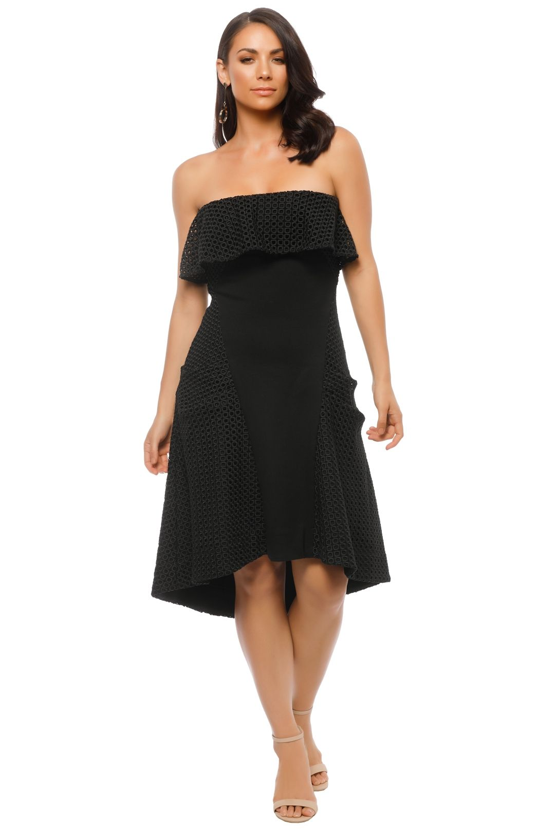 Elliatt - Belle Dress - Black - Front