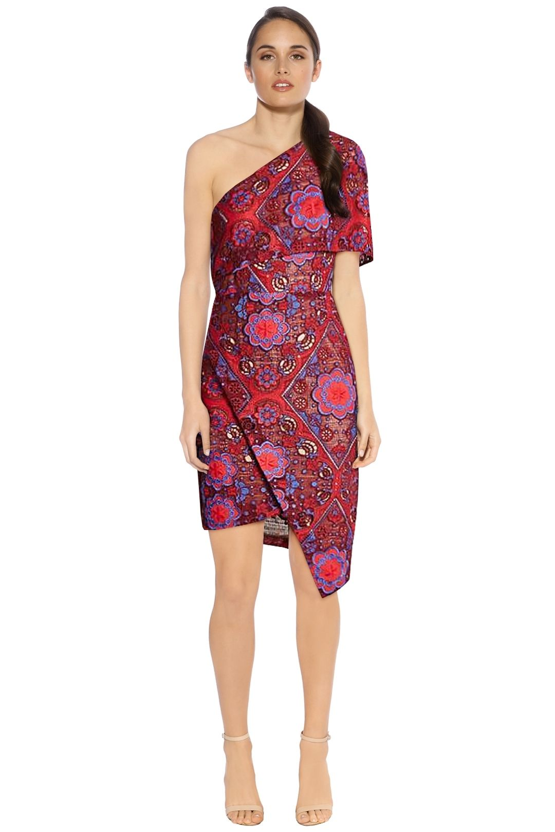 Elliatt - Cosmic Dress - Floral Red - Front