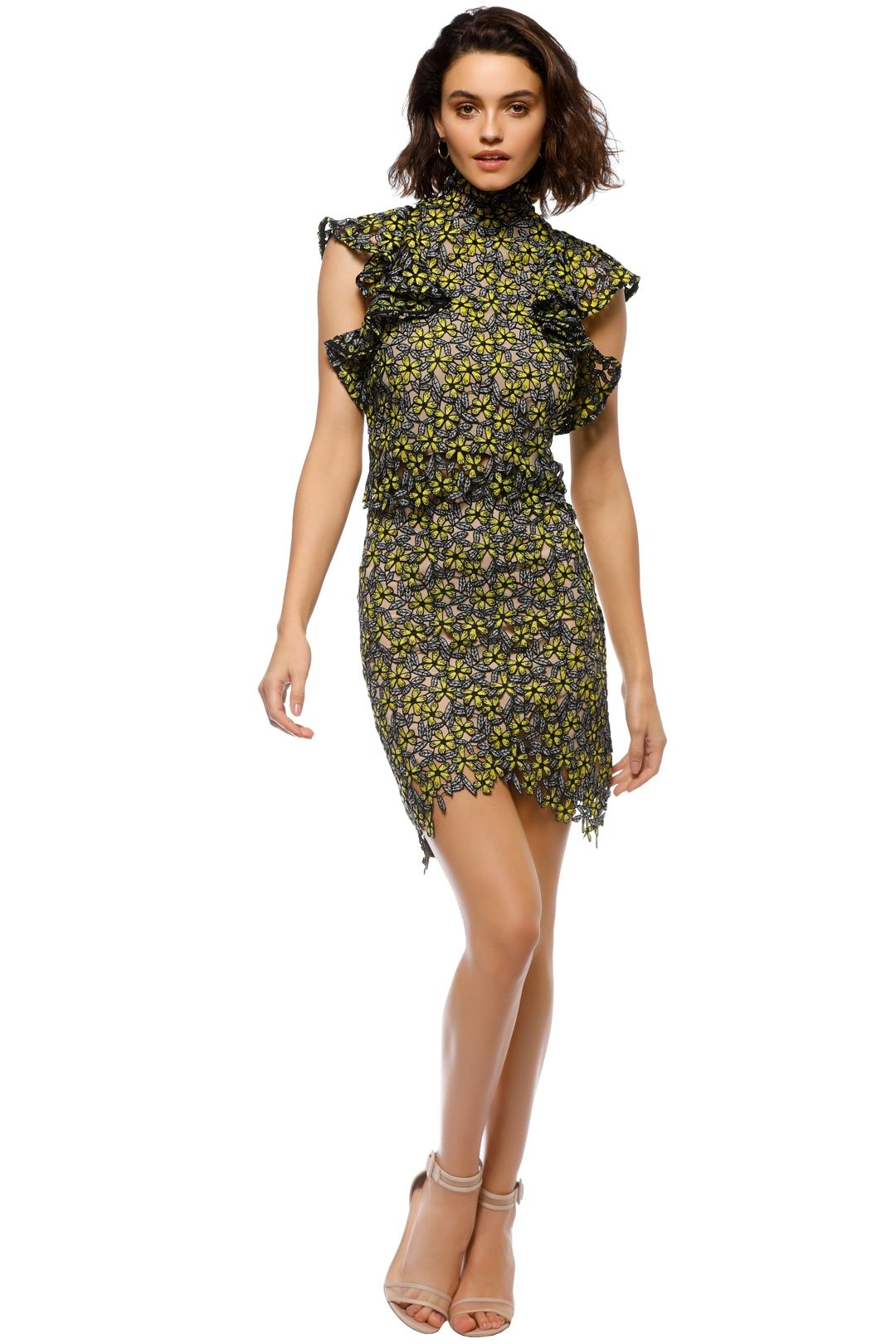 Elliatt - Eden Top and Skirt Set - Yellow Black - Front