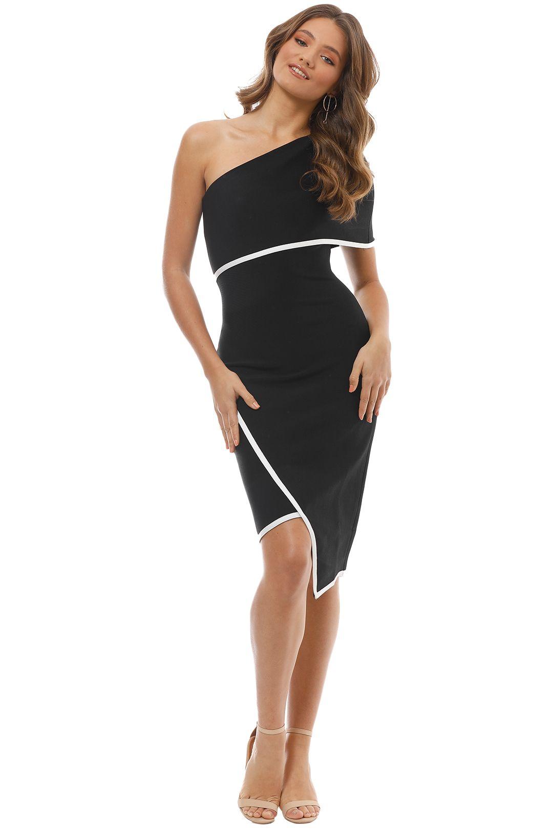 Elliatt - Emily Dress - Black White - Front