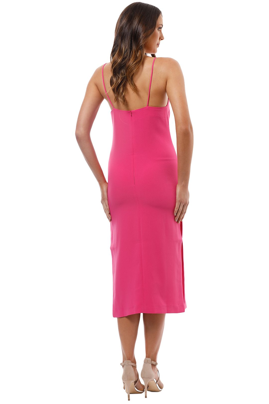 Elliatt - Fossil Dress - Fuschia - Back