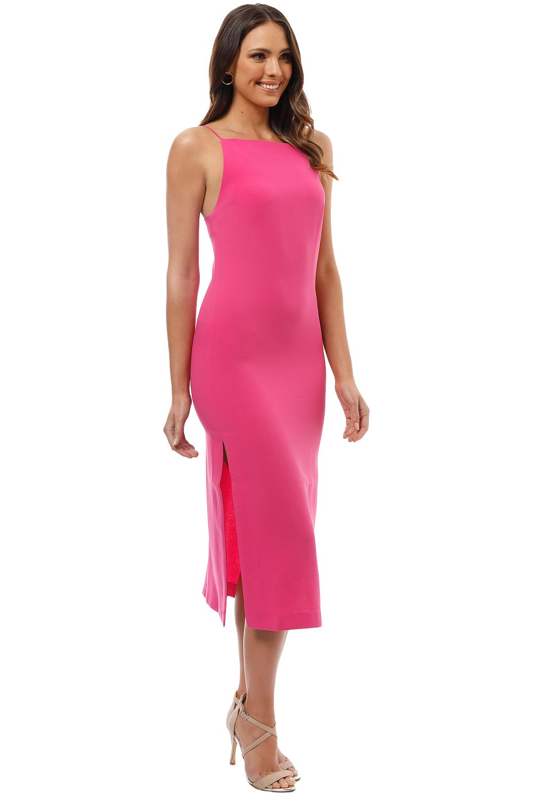 Elliatt - Fossil Dress - Fuschia - Side