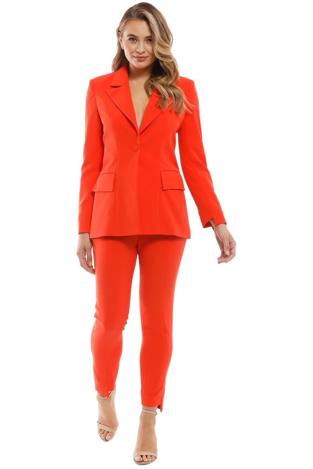 Elliatt - Harper Blazer and Pant Set - Tangerine - Front