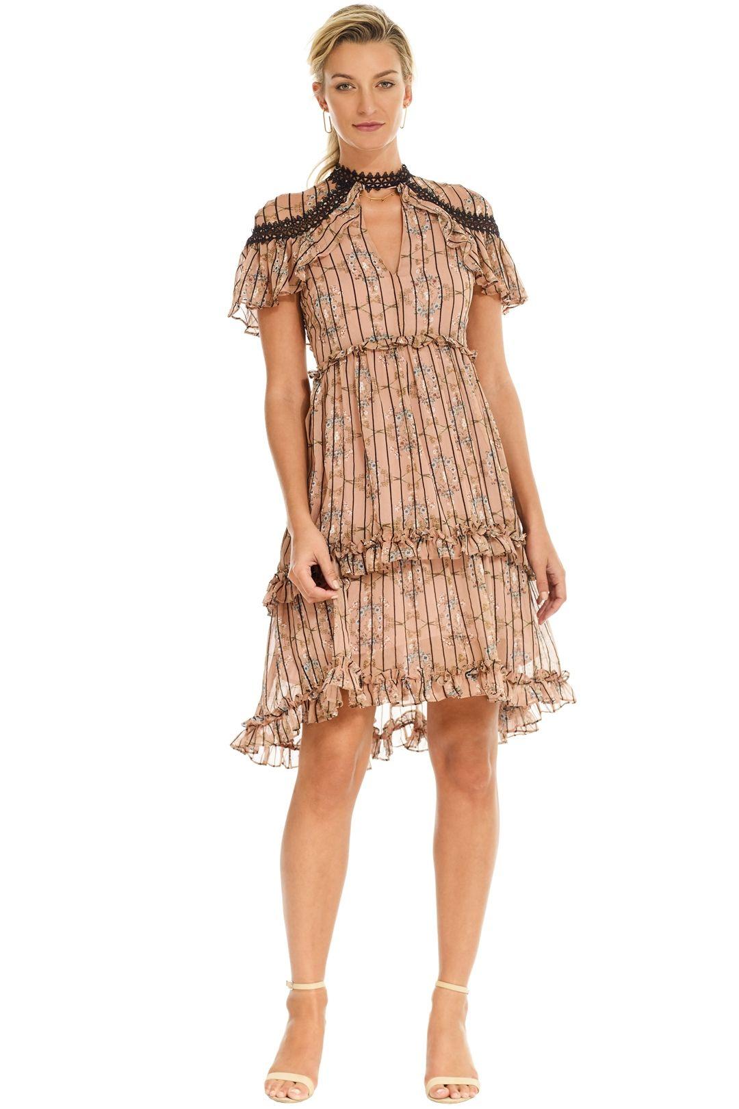Elliatt - Matinee Dress - Blush Floral - Front