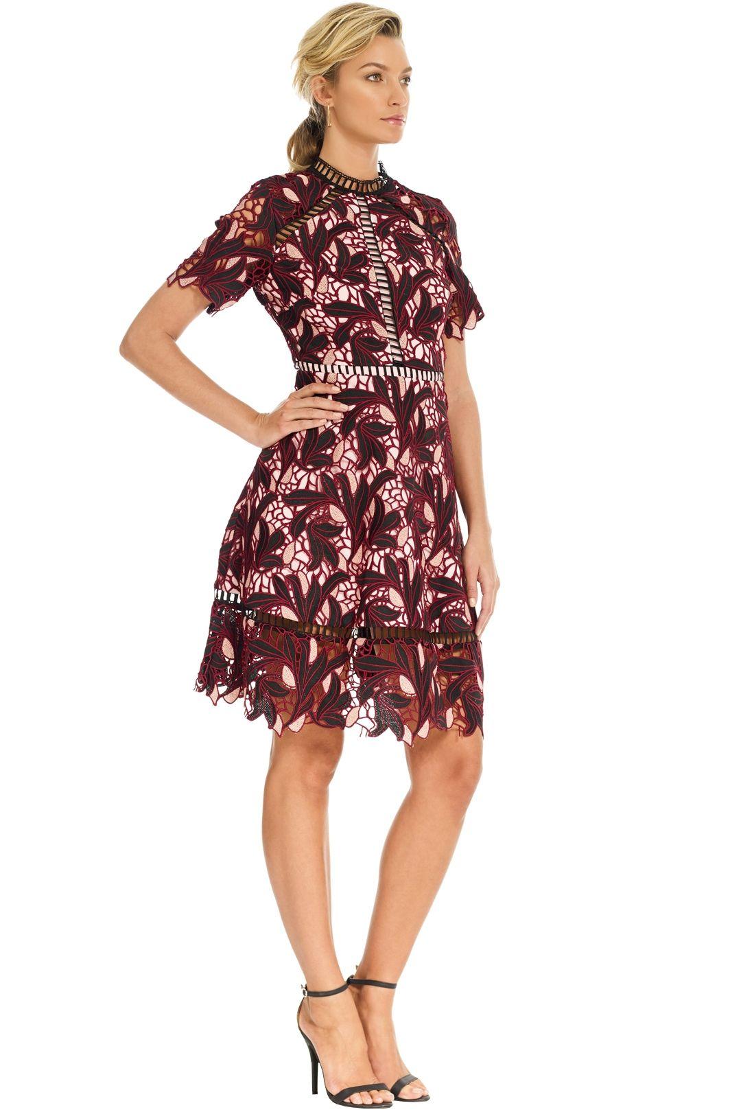 Elliatt - Montague Dress - Merlot - Side