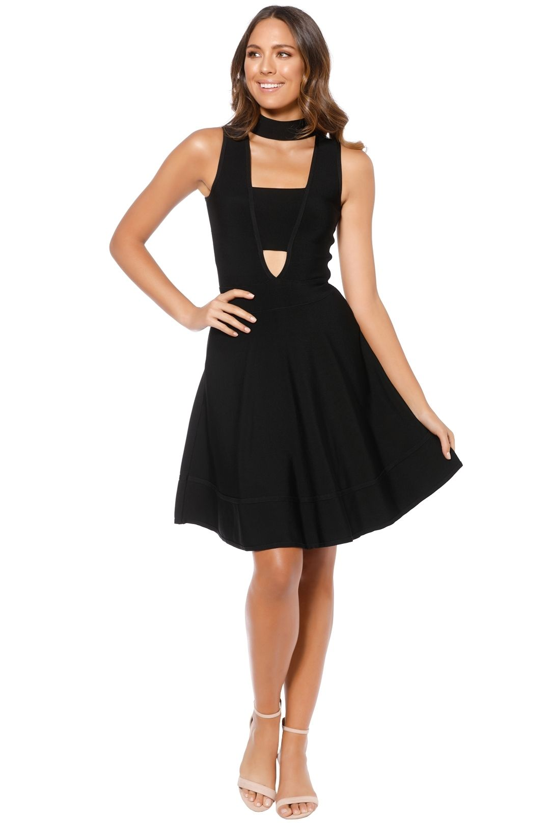 Elliatt - Morisot Dress - Black - Front