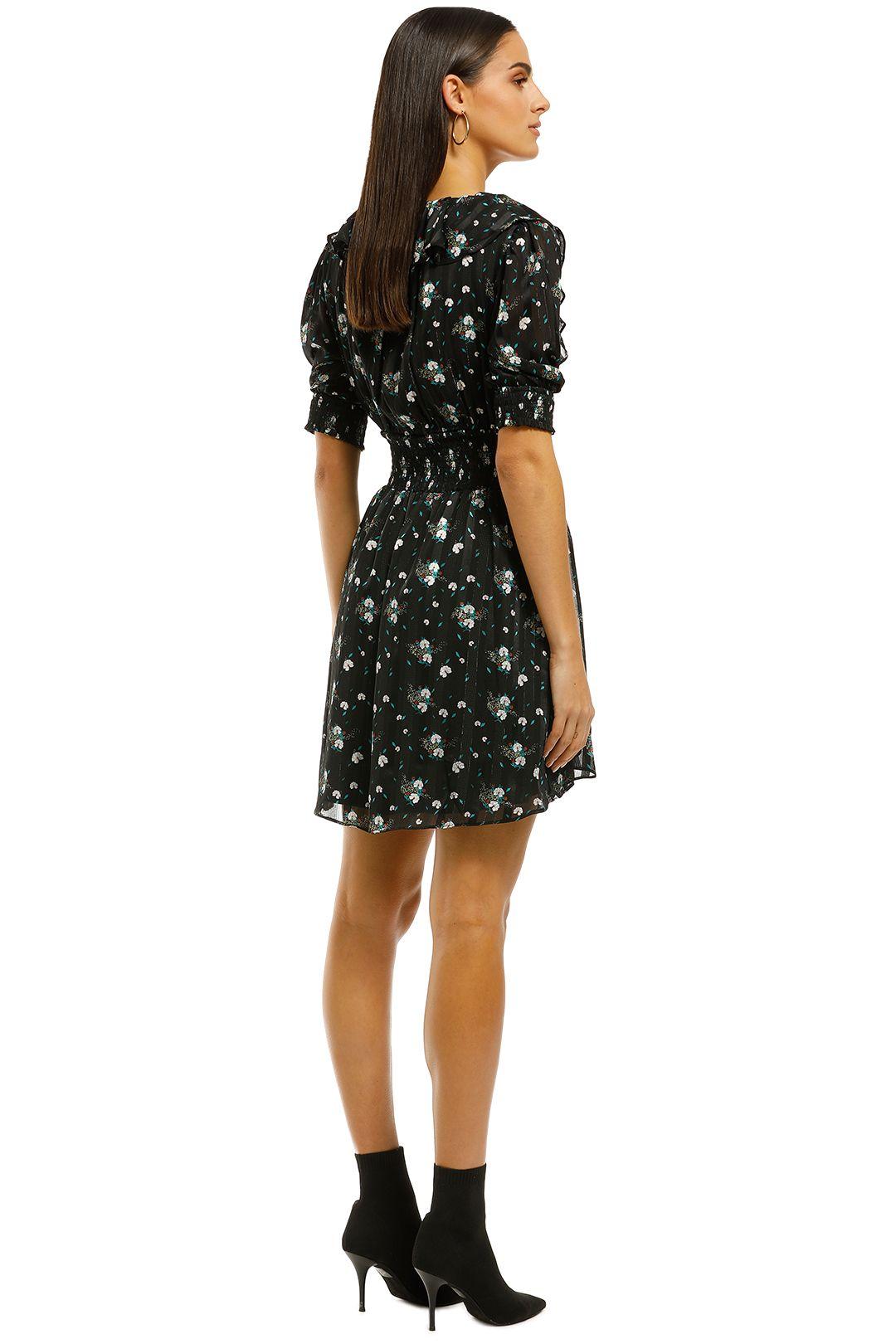 Elliatt - Posy Dress - Black Floral - Back
