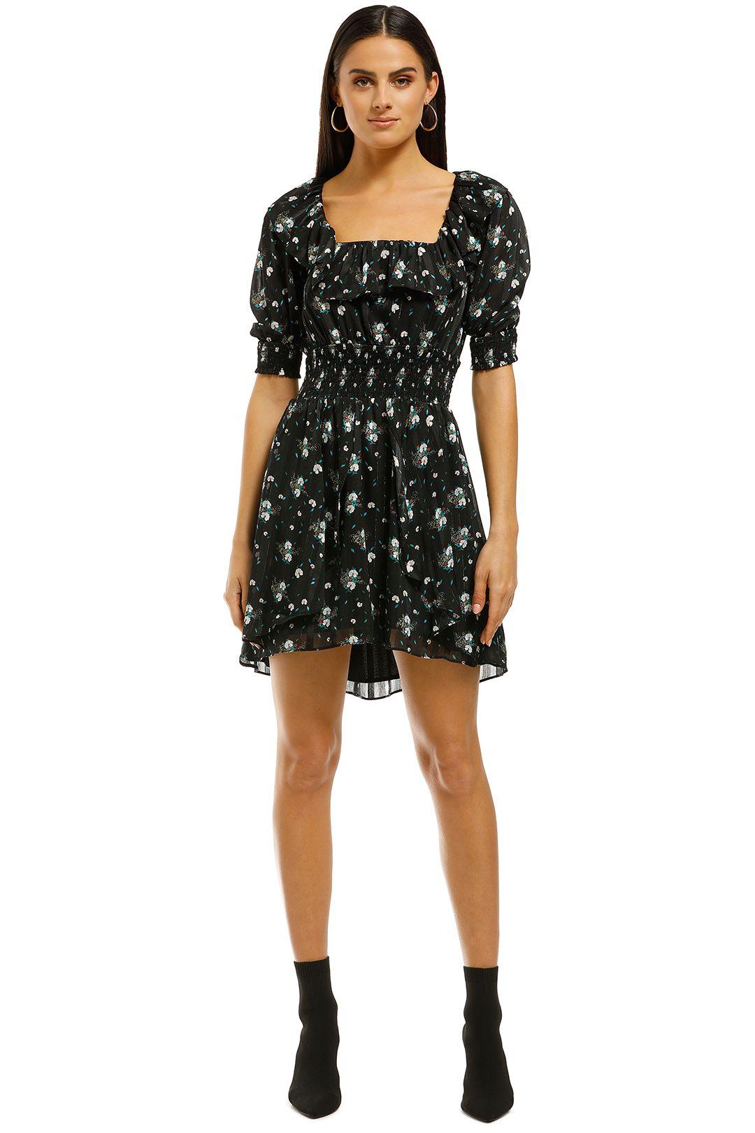 Elliatt - Posy Dress - Black Floral - Front