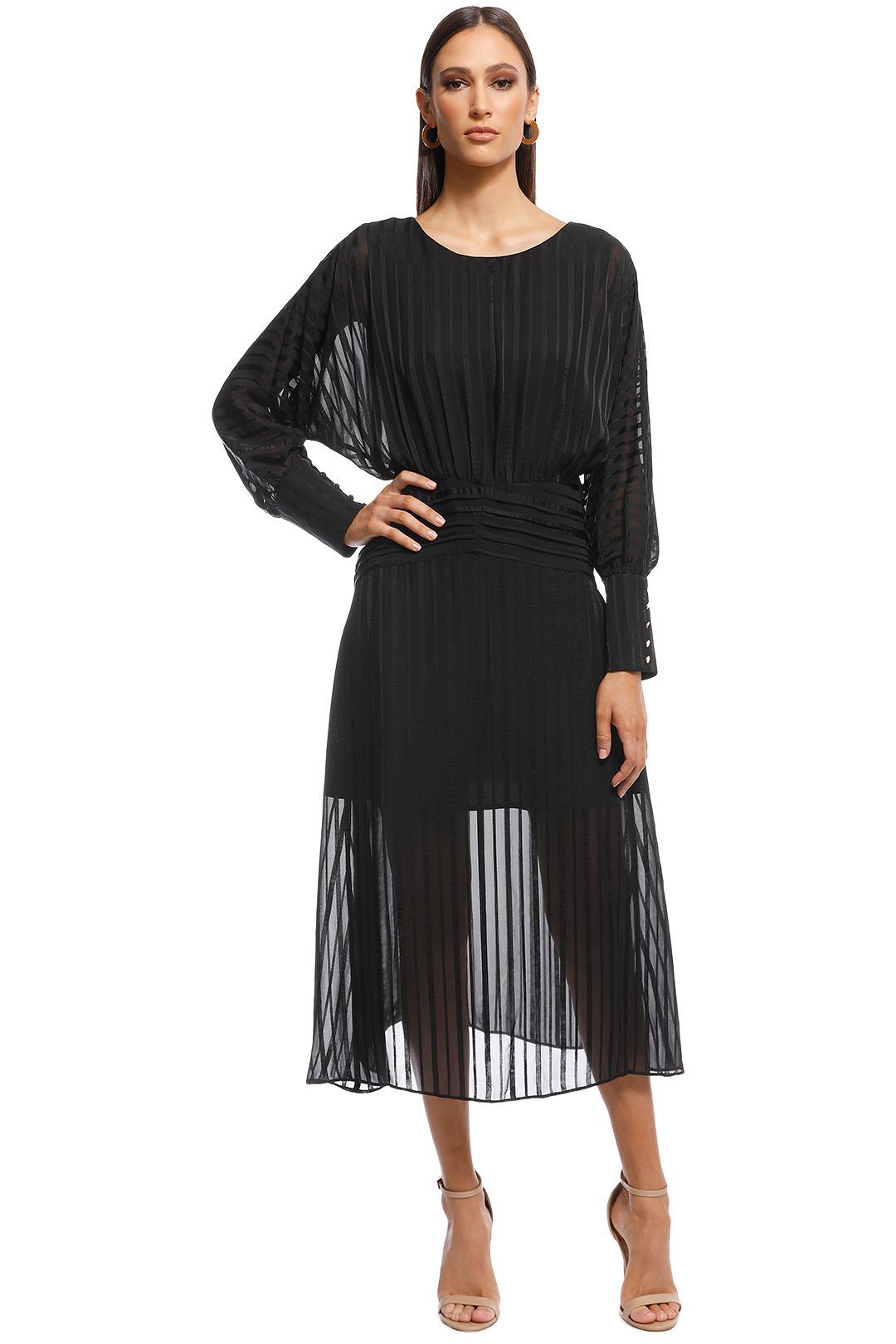 Elliatt - Runway Dress - Black - Front