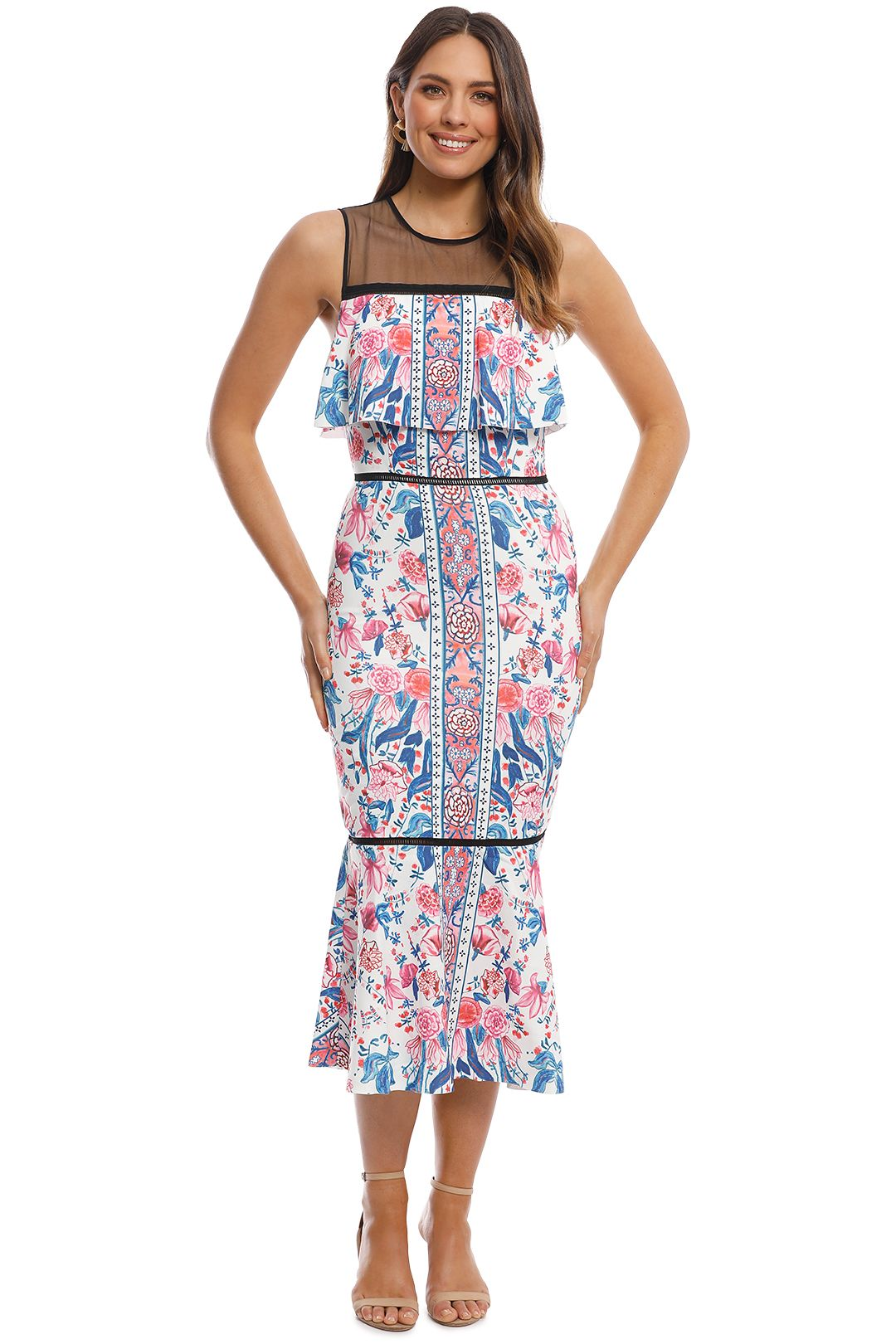 Elliatt - Siena Dress - Print - Front
