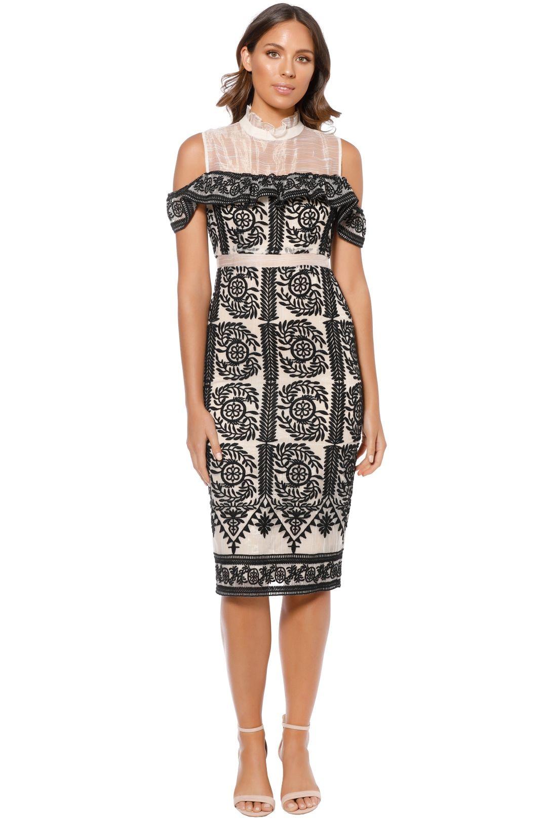 Elliatt - Soiree Dress - Black - Front