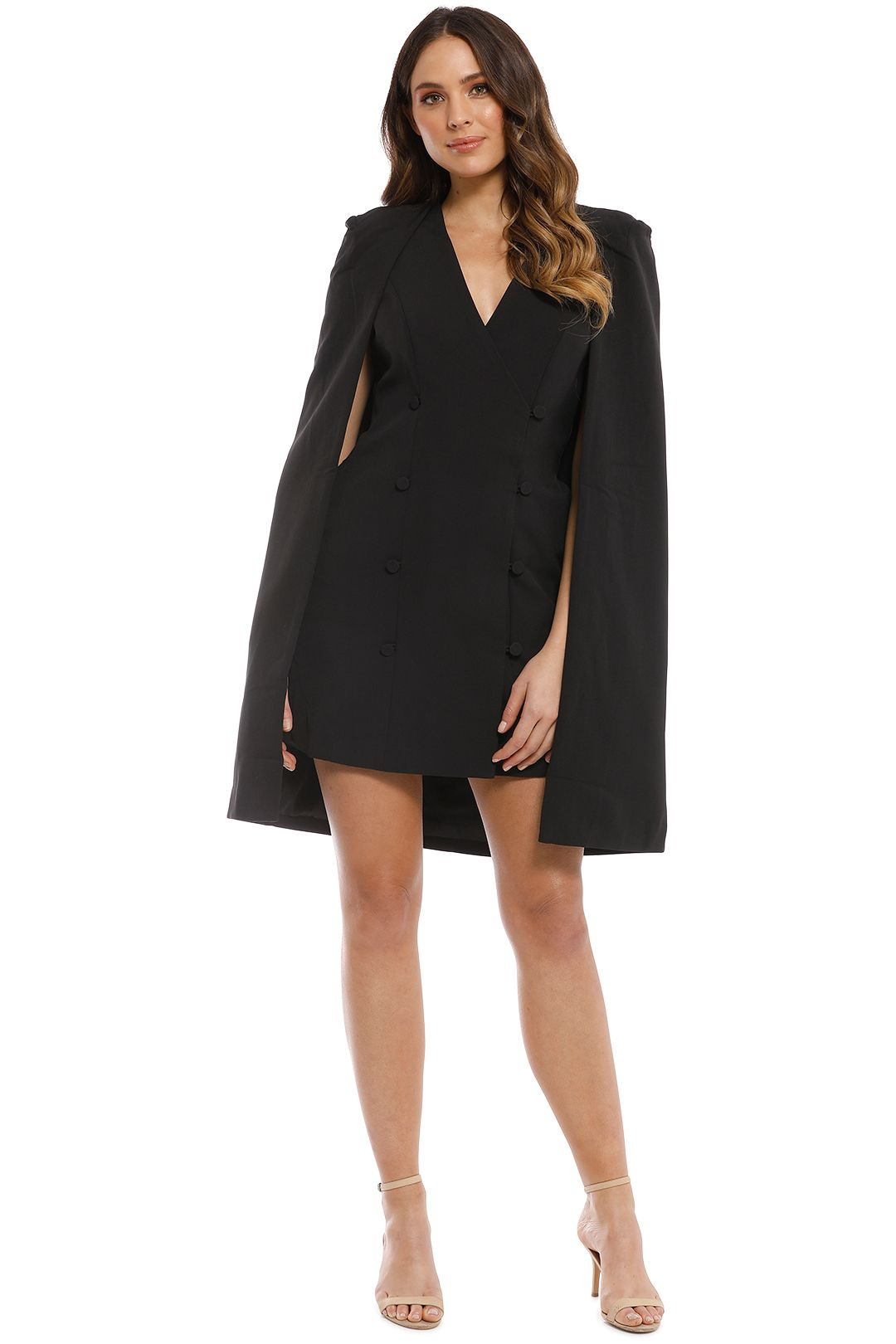 Elliatt - Sorrento Cape - Black - Front