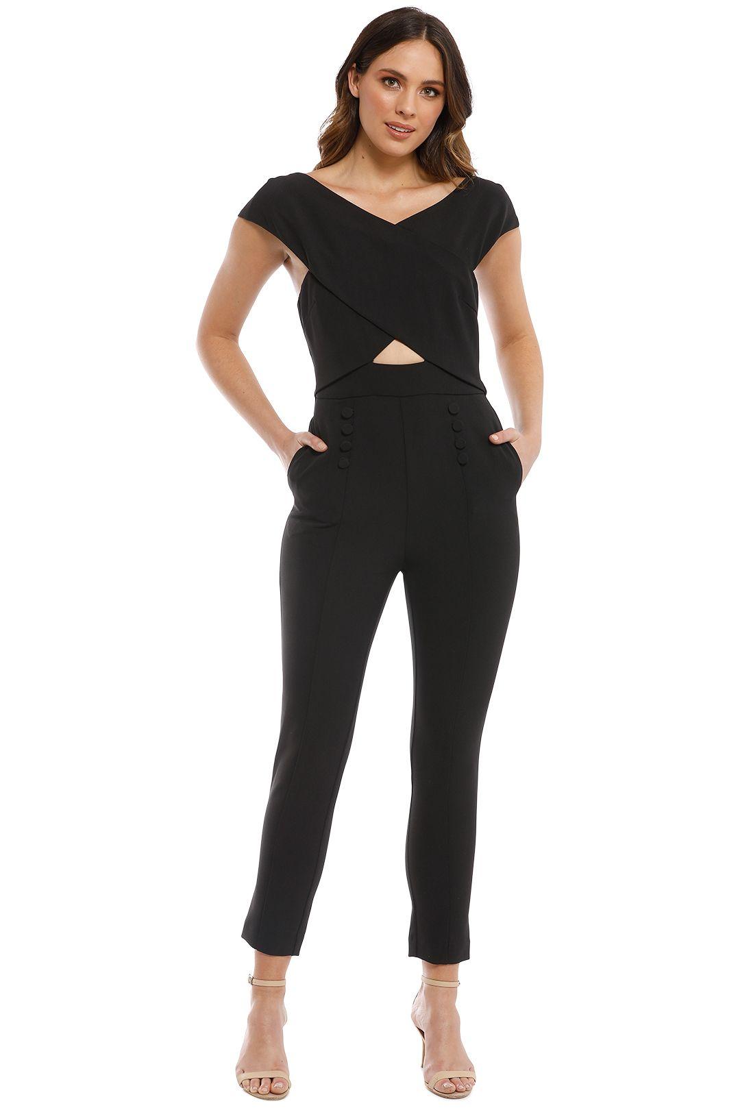 Elliatt - Sorrento Jumpsuit - Black - Front
