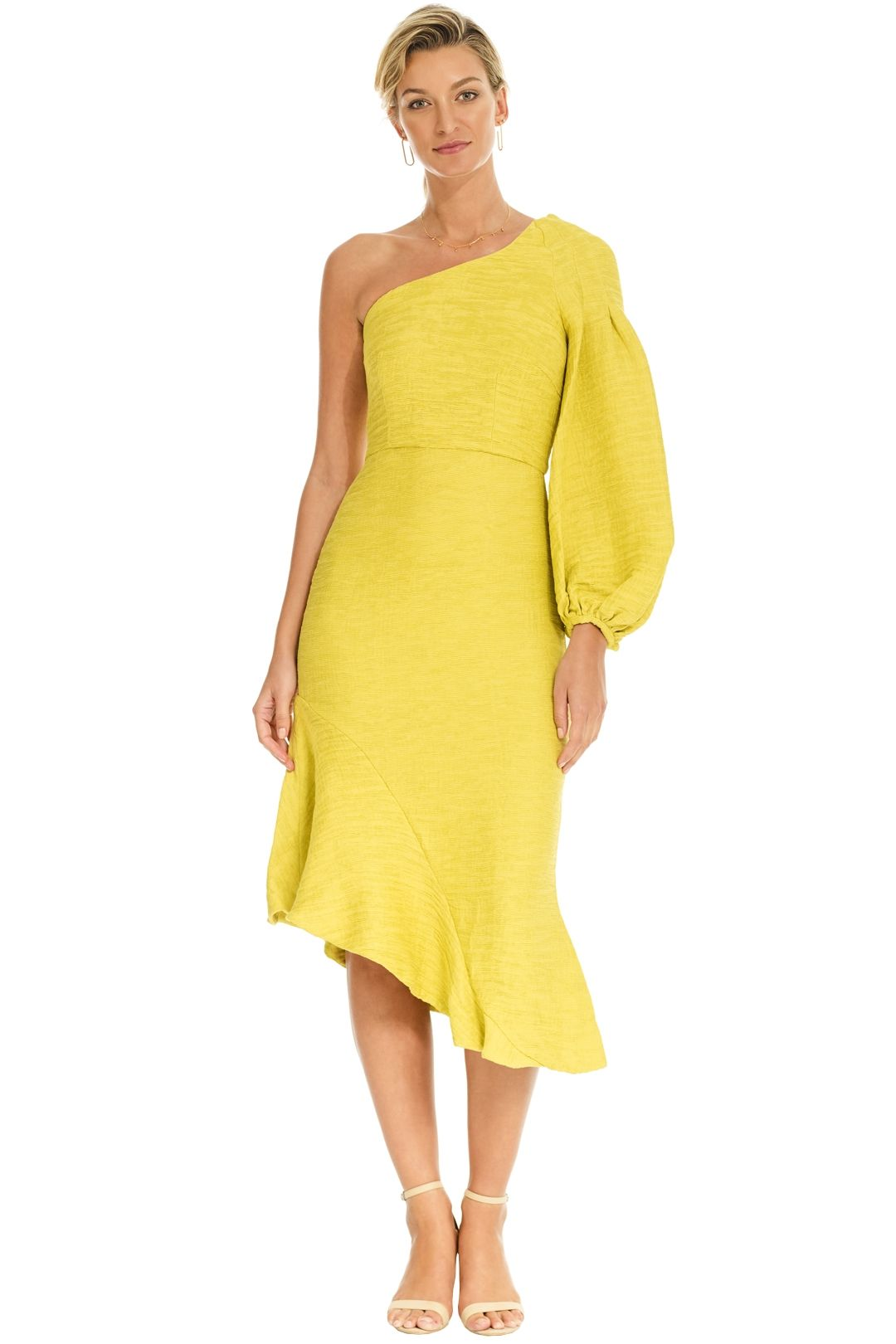Elliatt - Theatre Dress - Treuse - Front