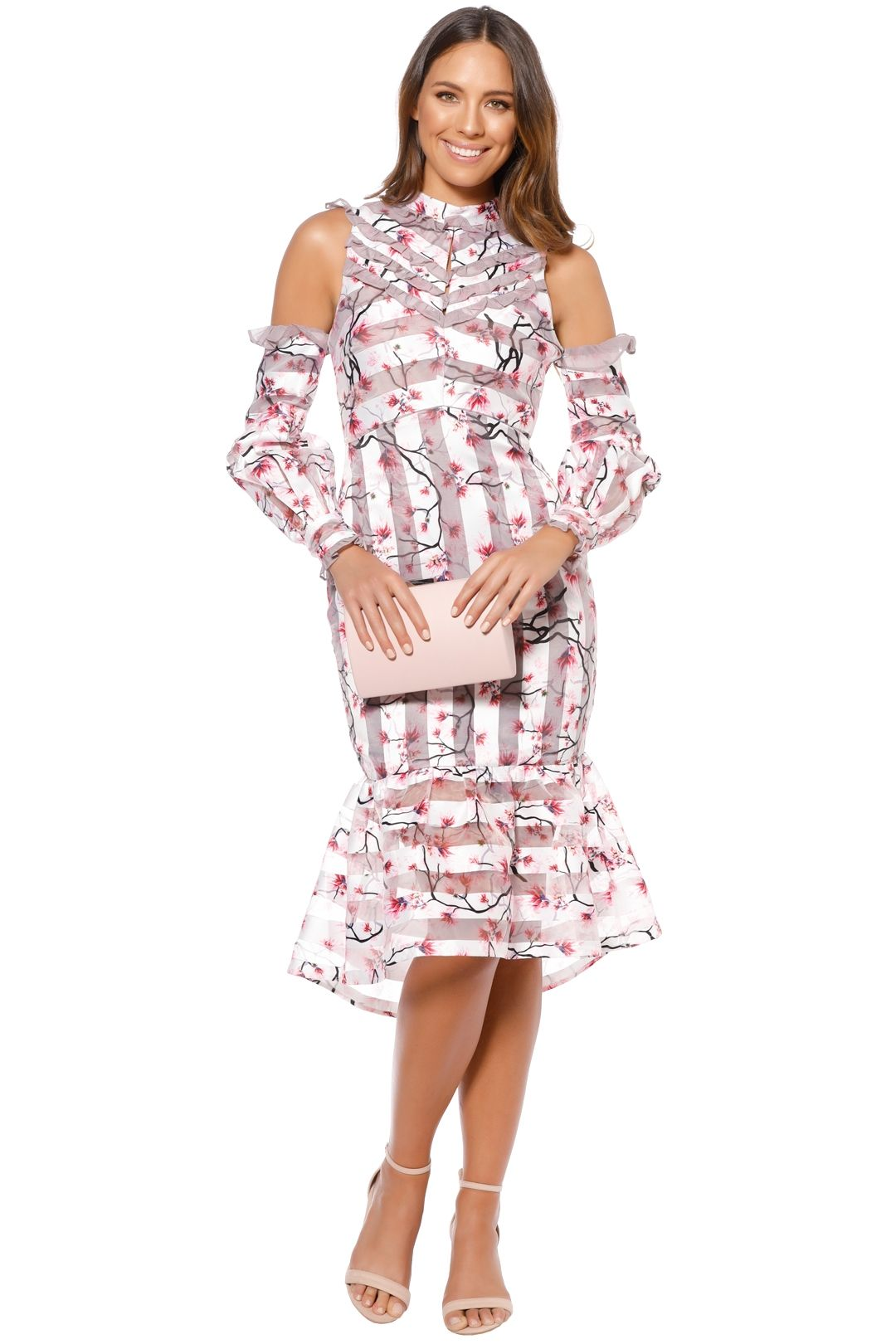 Elliatt - Versailles Dress - Violet Print - Front