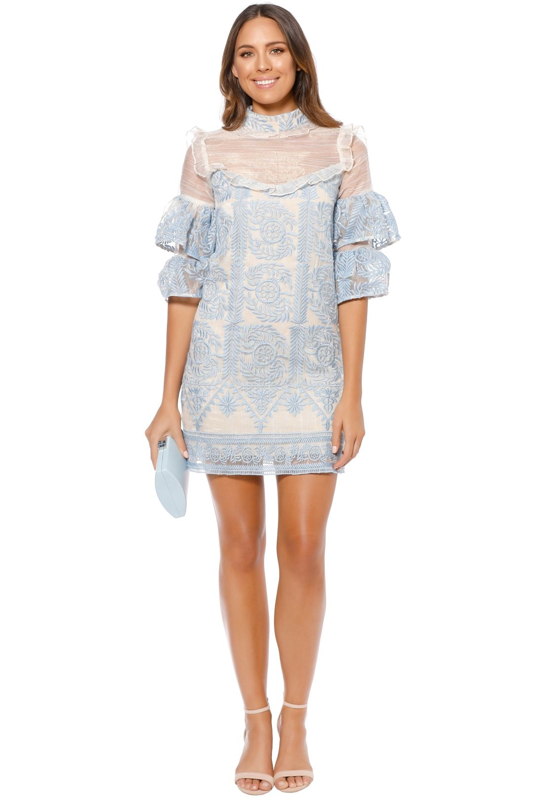Elliatt - Voltaire Dress - Sky Blue - Front