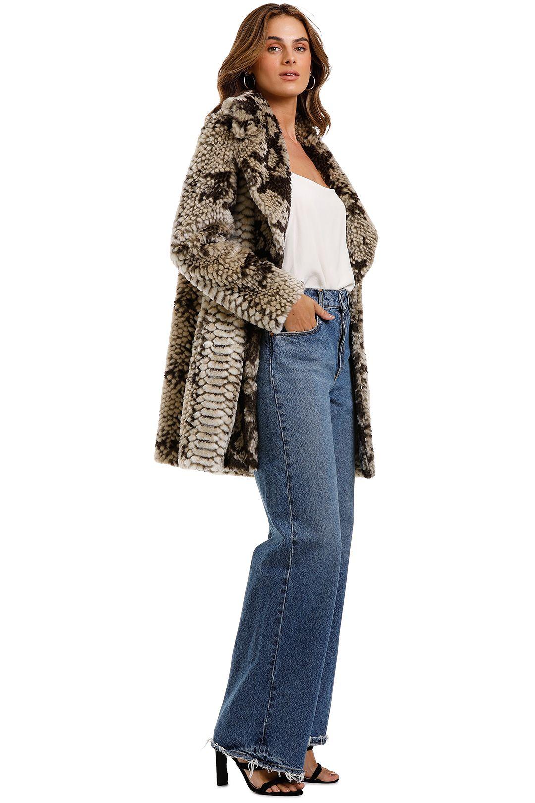 Elliatt Historic Coat Natural Faux Fur
