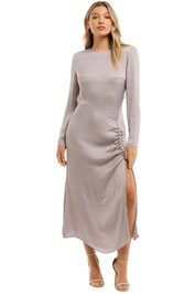 Elliatt Ministry Dress Grey Midi Split