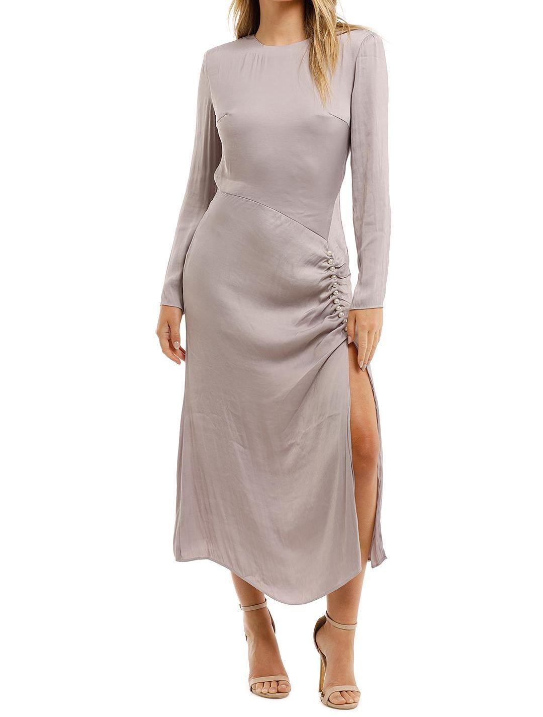 Elliatt Ministry Dress Grey Midi Split