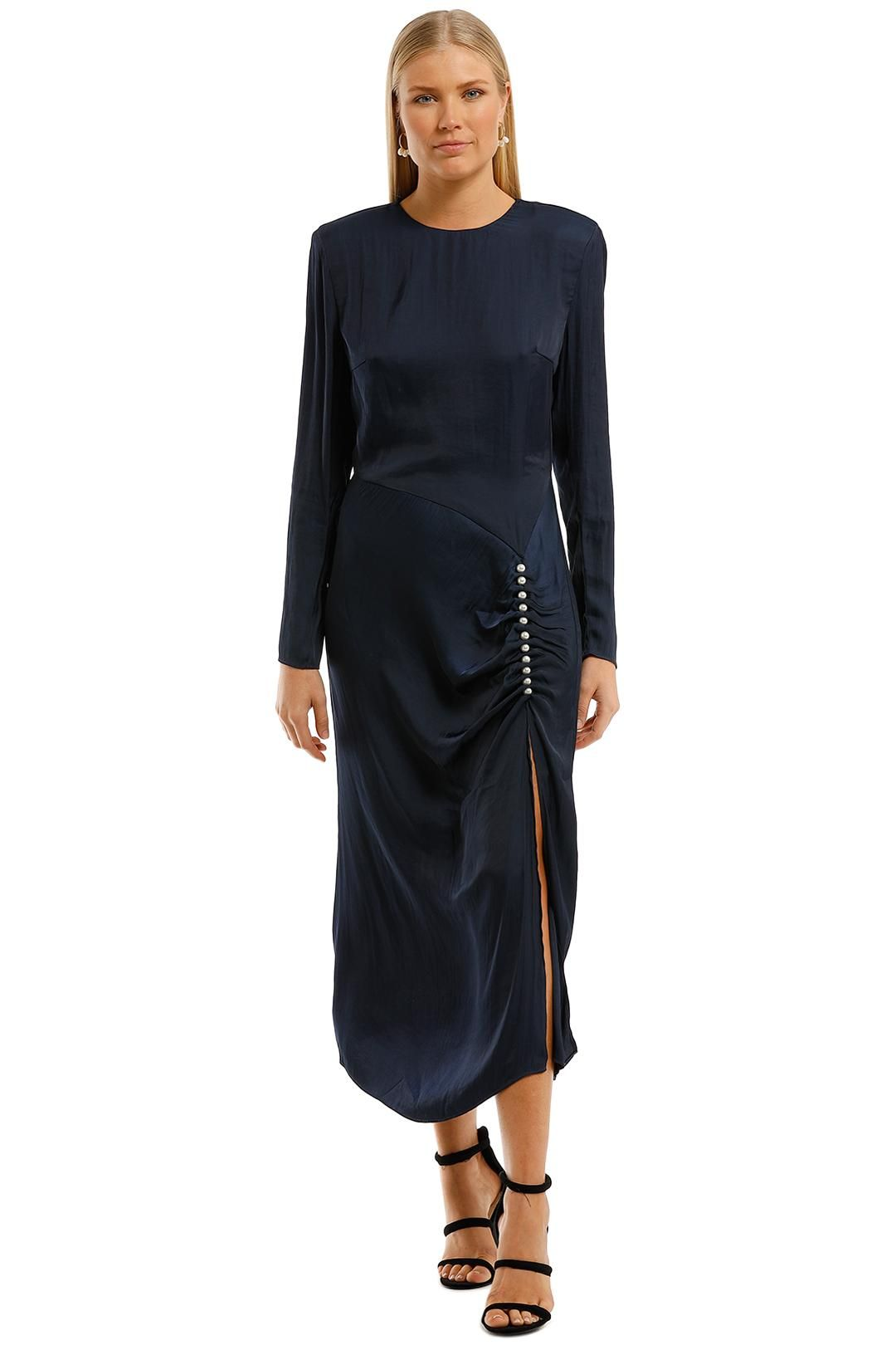 Elliatt Ministry Dress Navy Long Sleeve