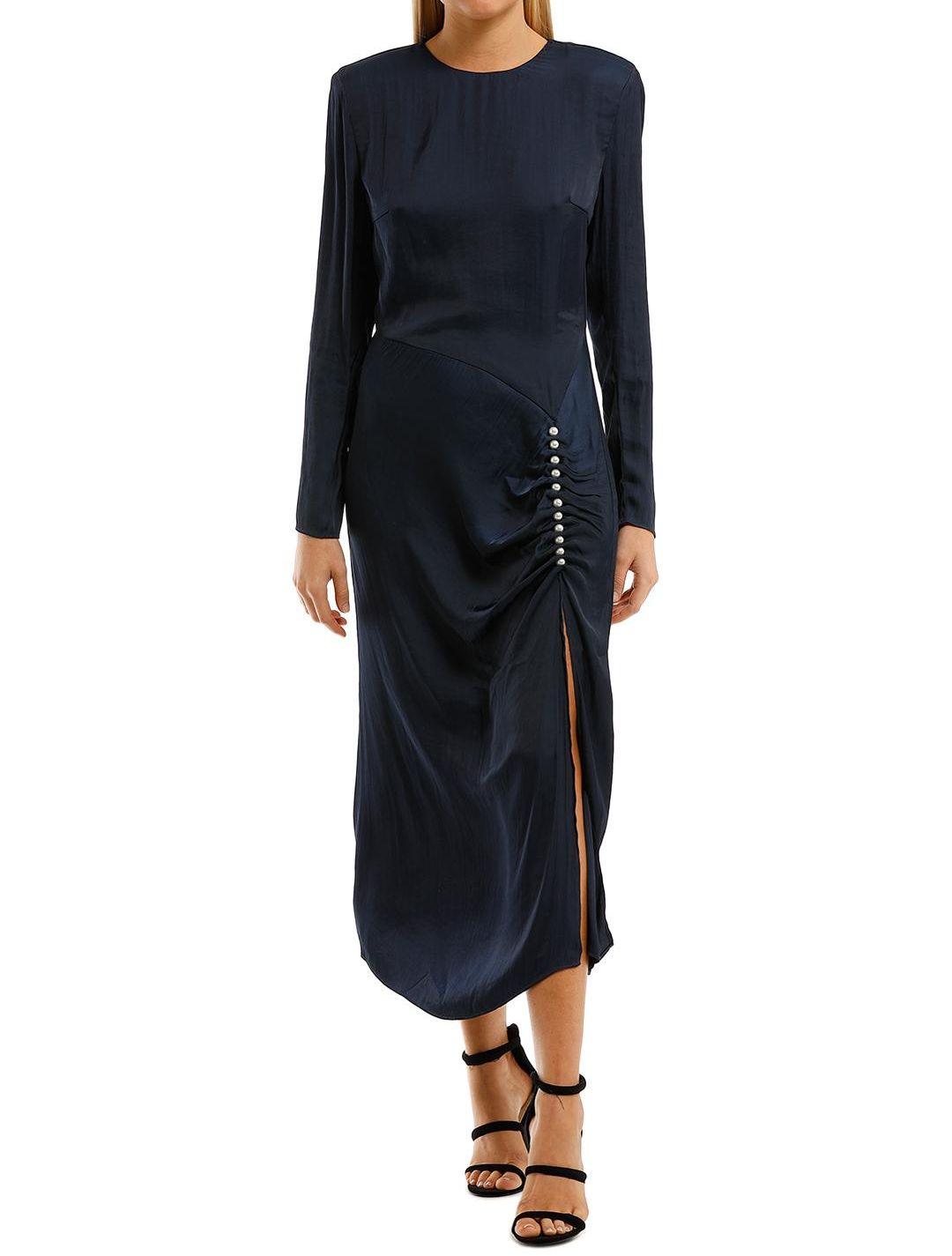 Elliatt Ministry Dress Navy Long Sleeve