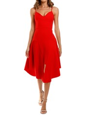 Elliatt Petal Dress Red