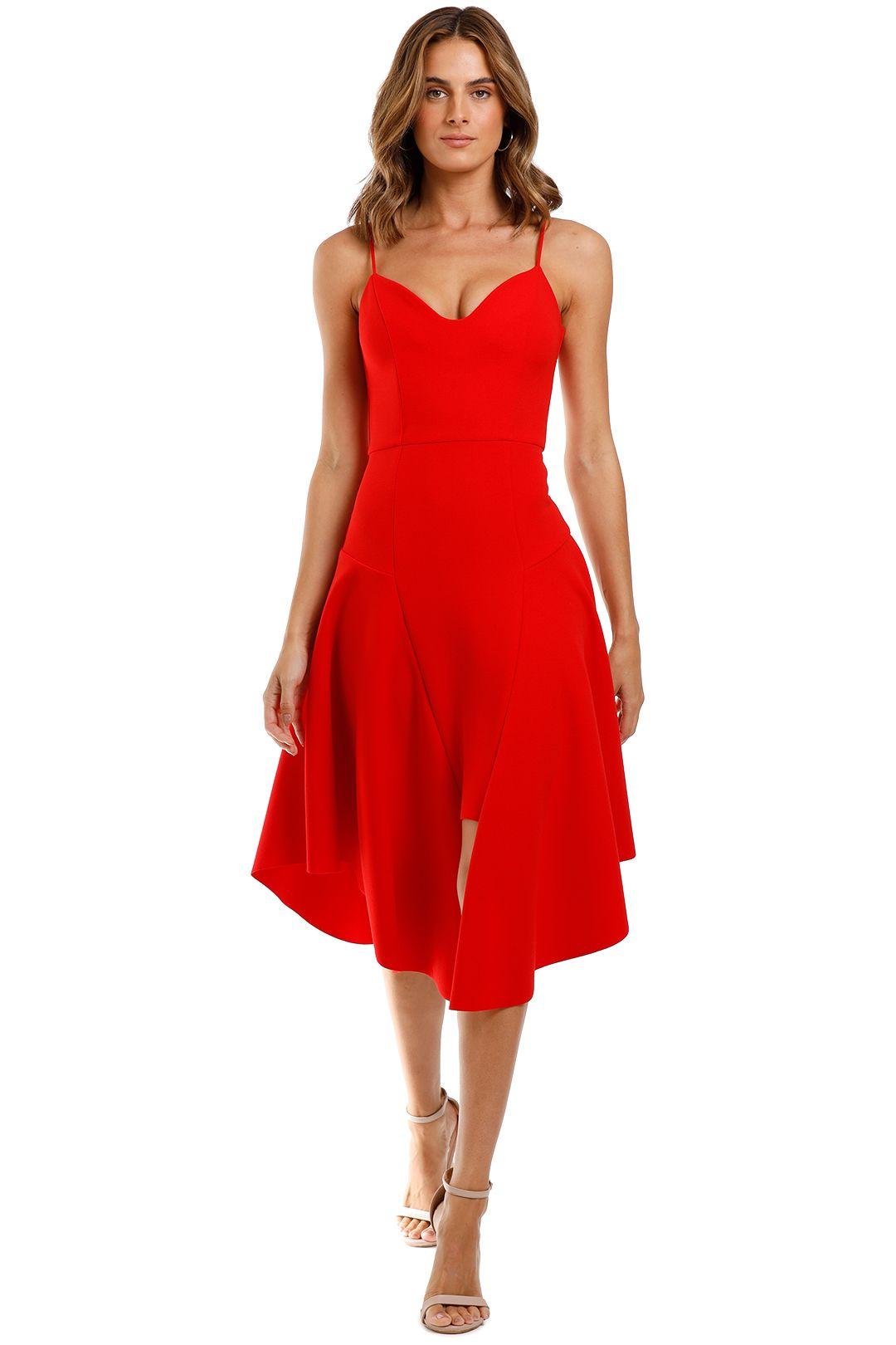 Elliatt Petal Dress Red